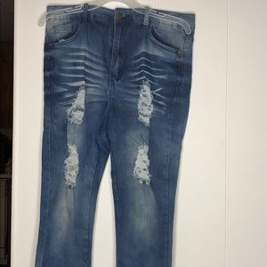 Hole-y jeans ..